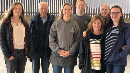 The family behind Old Hall Caf� Southwold from left, Evie Hall, Andrew Hall, Bella Hall, Will Hall,