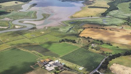 An aerial view of the Old Hall Café Southwold and its Maize Maze Picture: OLD HALL CAFE SOUTHWOLD
