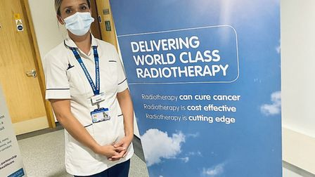 Rachel Buckingham, a therapeutic radiographer at Ipswich Hospital, features in the Shine a Light vid