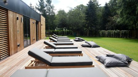 Enjoy a relaxing sit in the sun after being pampering at Kesgrave Hall Spa Picture: CHARLOTTE BOND