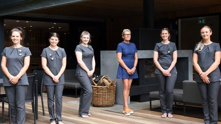 The team at Kesgrave Hall Spa Picture: CHARLOTTE BOND
