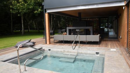 The spa's relaxing hot tub Picture: CHARLOTTE BOND