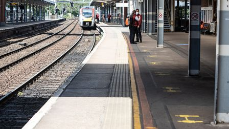 Services from Ipswich to London were delayed after a person was hit by a train near Colchester. Pi