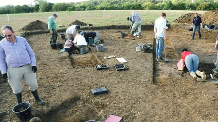 Stour Valley Community Archaeology during a dig in Bulmer Picture: SVCA