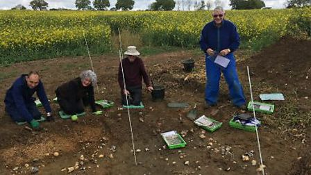 Stour Valley Community Archaeology members Peter Nice, Jane Forsey, David Orrell and Peter Hart Pict