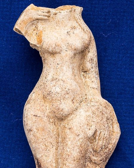 The Venus statuette uncovered by the team in Long Melford Picture: Jeffrey James Photography