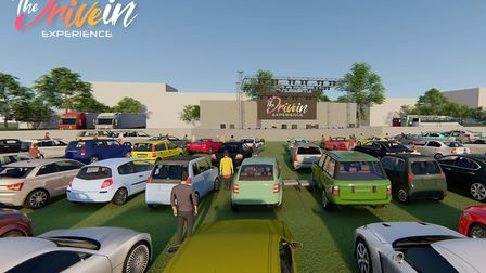 An artist's impression of the layout of The Drive-In Experience at Stonham Barns, Thetford and Chelm