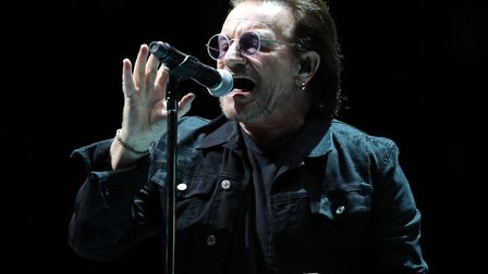 U2's Bono performs on stage at the U2 eXPERIENCE + iNNOCENCE Tour Picture: ANDREW MATTHEWS/PA IMAGE