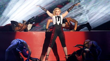 Madonna performs on stage during the 2015 Brit Awards at the O2 Arena, London Picture: YUI MOK/PA IM