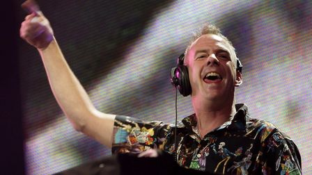 File photo dated 05/07/08 of Fatboy Slim (aka Norman Cook) performs on the Main Stage during the thi