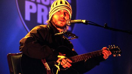 Badly Drawn Boy singer Damon Gough at the Mercury Music Prize ceremony for Album of the Year, at the