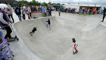 Bury St Edmunds Skate Park opened in 2014. Picture: ARCHANT/FILE PICTURE