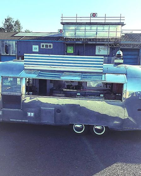 Bessie the 1960s Airstream takeaway at ICE in Rougham Picture: Sarah Stamp