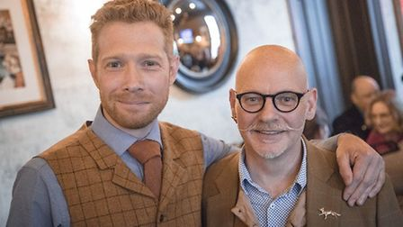 Zeb Soanes (L), the BBC broadcaster, will be joining illustrator James Mayhew (R) to read about the