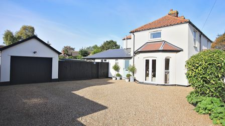 This High Road property in Trimley St Mary benefits from ample off-road parking and a garage Picture
