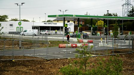 The BP petrol station and M&S Simply Food store opened last year near the site for the proposed mote
