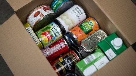 Tinned goods ready for donation Picture: Rae Shirley Photography