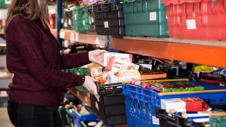 Hannah Worsley of Norwich Foodbank - which has made almost 3,000 deliveries to families during lockd
