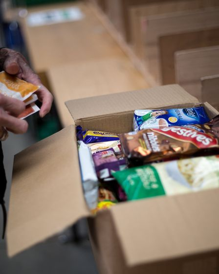 Food parcels at the Norwich Foodbank Picture: Rae Shirley Photography