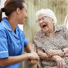 Home care enables elderly people to stay happy and healthy at home for as long as possible. Picture: