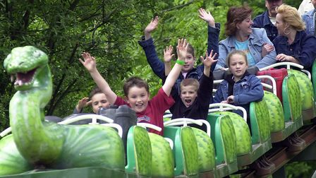 Youngsters enjoying the fun of the park at Pleasurewood Hills Picture: KEIRON TOVELL