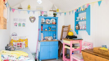 Beach huts can become a second home for some people Picture: Ryan's Insurance/Millie's Beach Huts