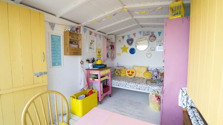 Inside one of the beautifully coloured beach huts by Millie's Beach Huts Picture: Ryan's Insurance/M