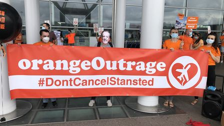 Protests have also taken place at Southend and Newcastle airports. Picture: CLAIRE LEES