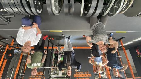 Gym-goers at Iron Mighty in Saxmundham as the gym reopened for the first time since lockdown. Pictu