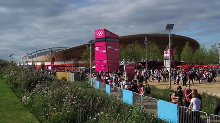 Crowds flocking to the Olympics in 2012 Picture: LEIGH HORTON