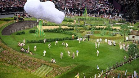 The Isles of Wonder Opening Ceremony at the Olympic Stadium, London in 2012 portrayed the strengths