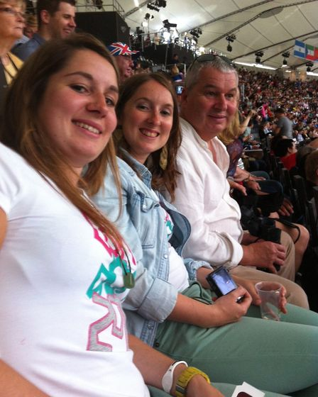 Games Maker Karen Redfern and her family had a great time at the 2012 Olympics Picture: KAREN REDFER