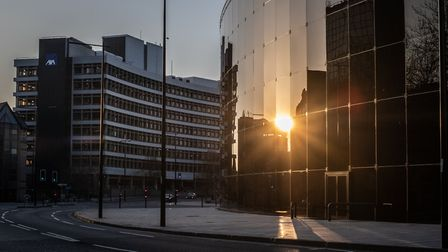 Could the sun be setting on people working in offices? Picture: SARAH LUCY BROWN