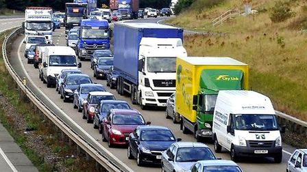 Work from home lead to much quieter roads, making scenes like this less common Picture: ARCHANT