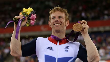 Jody Cundy after winning a bronze at the London 2012 Paralympic Games Picture: PA Wire/David Davies