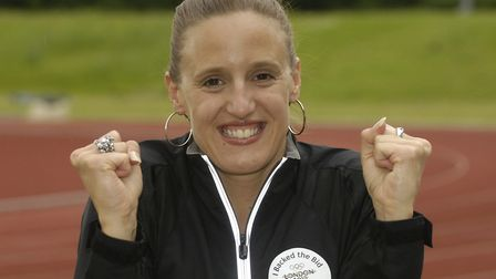 Ipswichs Karen Pickering, pictured here in 2005, has competed in four consecutive Olympic games Pic