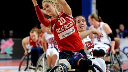 Amy Conroy in action during the BT Paralympic World Cup Picture: PA Wire