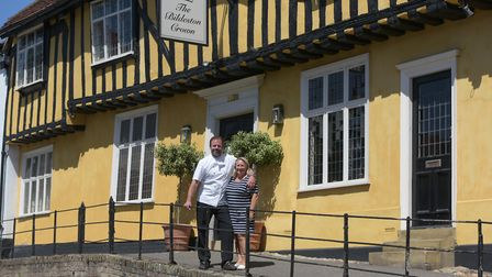 Chris and Hayley Lee , owners of The Bildeston Crown Picture: SARAH LUCY BROWN