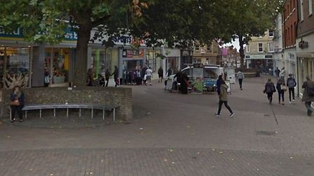 Two men have been arrested following a disturbance outside Kaspa's in Bury St Edmunds Picture: GOOG