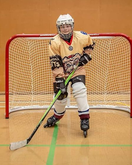 India Langley in action for Mid Suffolk Mutts Skater Hockey Club. Picture: BECKIE EGAN PHOTOGRAPHY