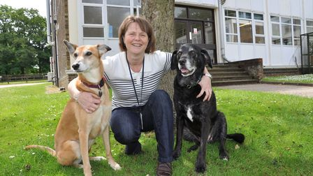 Dr Cathryn Mellersh outside the Kennel Club Genetics Centre at the Animal Health Trust in Newmarket.