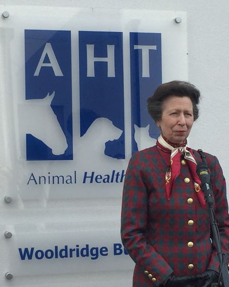 HRH the Princess Royal was president of the Animal Health Trust and a regular visitor. Picture: AHT