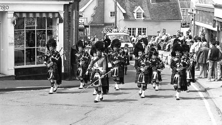 A marching band leading the procession Picture: IVAN SMITH