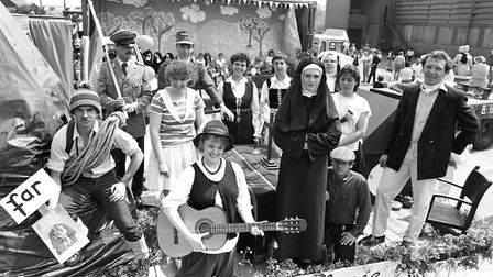 Fun and fancy dress as residents of Framlingham enjoyed their annual gala in 1986 Picture: IVAN SMI