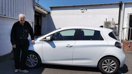Glym Hall bought an electric car four years ago and has spoken out about how Suffolk needs more char