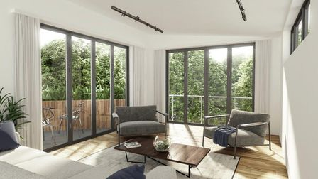 The building is planed to be built over a number of floors, in the centre of an acrew of woodlands .