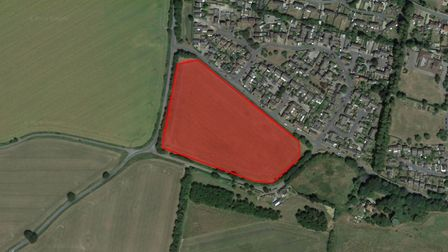 The site of the new 100 home estate in Acton which has been accepted by Babergh District Council's p