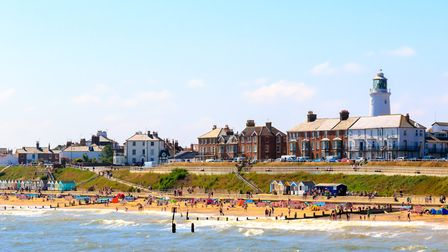 Seaside cottages and lighthouse at Southwold beach, UK. Picture: GETTY IMAGES/ISTOCKPHOTO