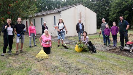 Denham Community Council begin to clear the village hall site in preparation for renovations to begi