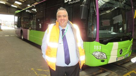 Ipswich Buses' general manager Stephen Bryce. Picture: IPSWICH BUSES